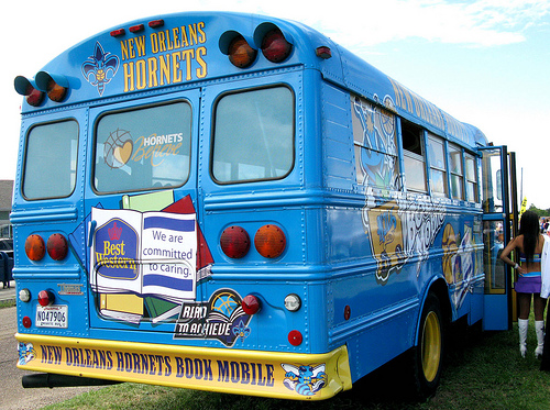 New Orleans Hornets Bookmobile