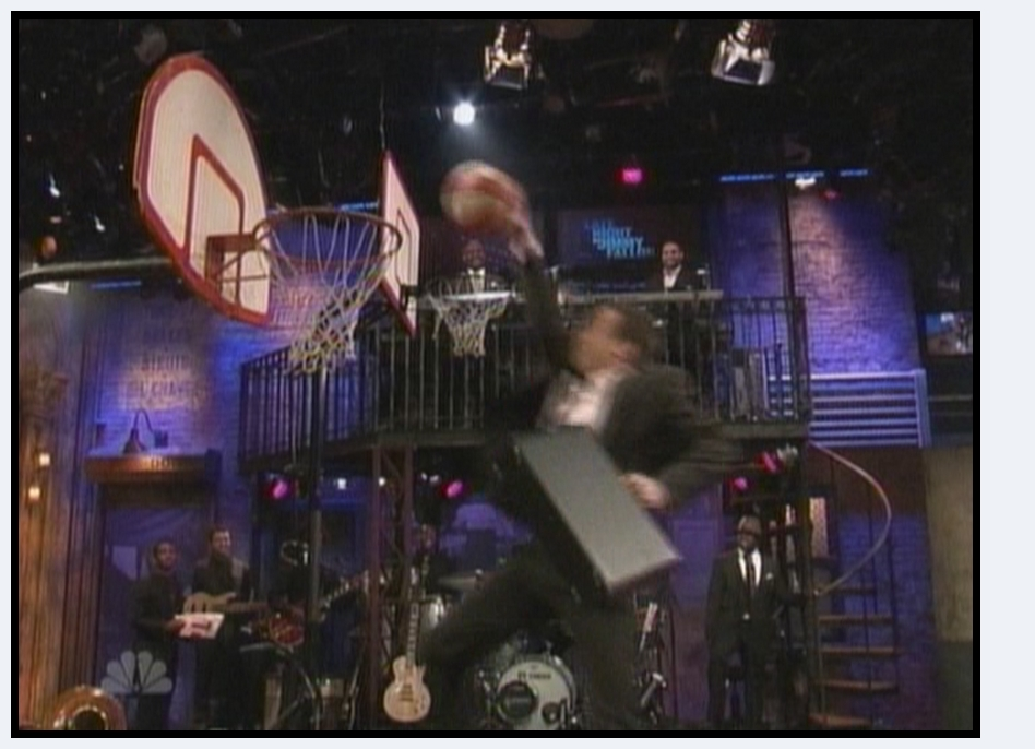Blake's First Dunk: Windmill. Blake Griffin Jimmy Fallon Dunk Contest 3