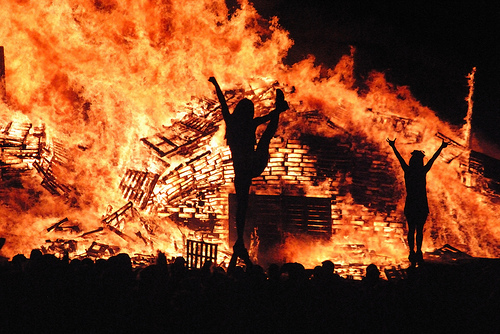 North Texas Cheerleader Bonfire 5