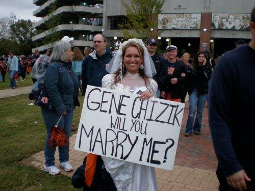 Gene Chizik Marriage Proposal