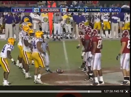 LSU Alabama Punt 4th Down